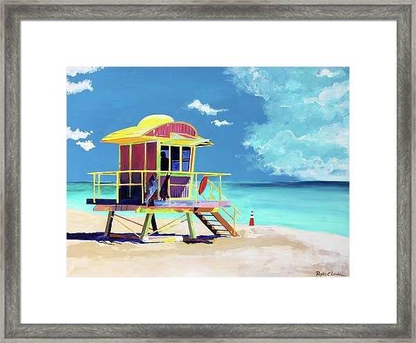 South Beach Framed Print