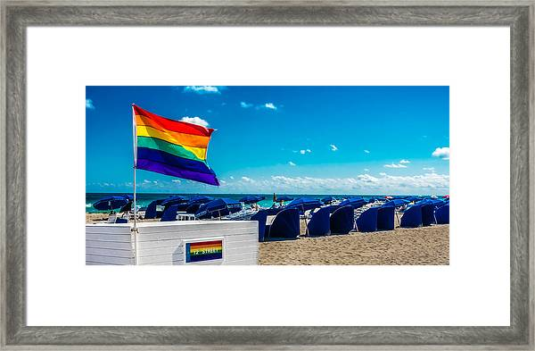 South Beach Pride Framed Print