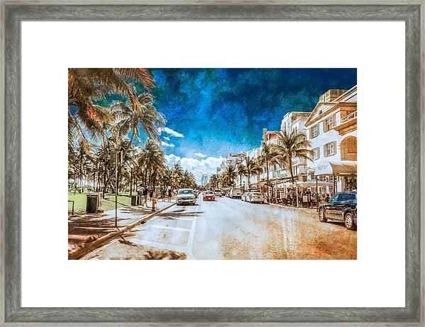 South Beach Road Framed Print