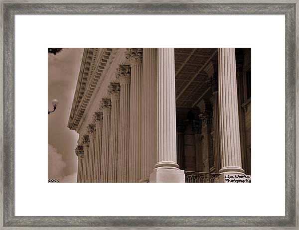 South Carolina State House Columns  Framed Print
