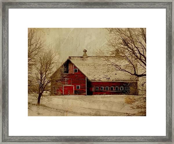South Dakota Barn Framed Print
