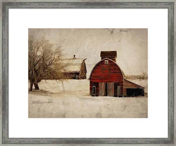South Dakota Corn Crib Framed Print