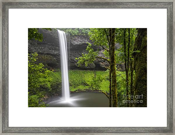 South Falls In Silver Falls State Park Framed Print