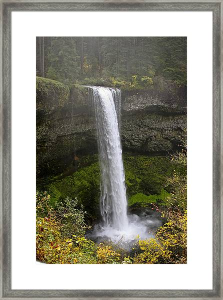 South Falls Of Silver Creek II Framed Print
