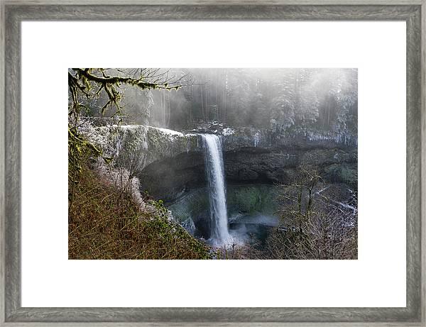 South Falls Shroud Framed Print