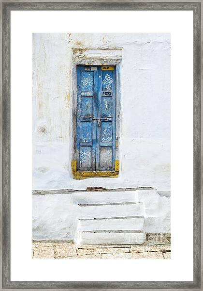 South Indian Door Framed Print