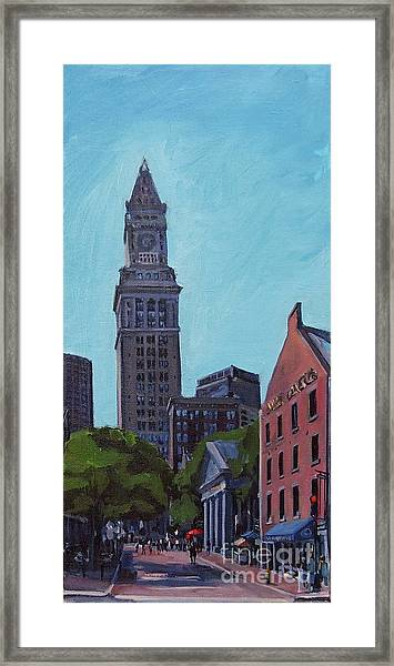 South Market Boston Framed Print