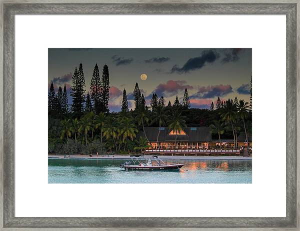 South Pacific Moonrise Framed Print