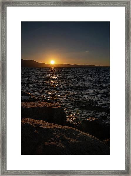 South Shore Sunset Framed Print