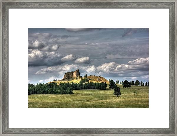Belltower Butte Framed Print