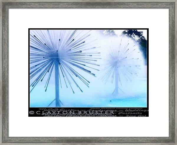 Southern California Fountains Framed Print