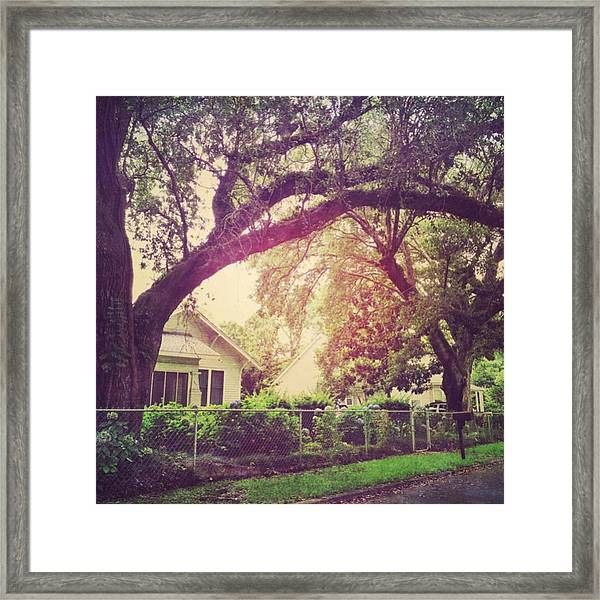 Southern Home #house  #coastalbeauty Framed Print