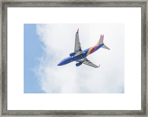 Southwest Airlines With A Heart Framed Print
