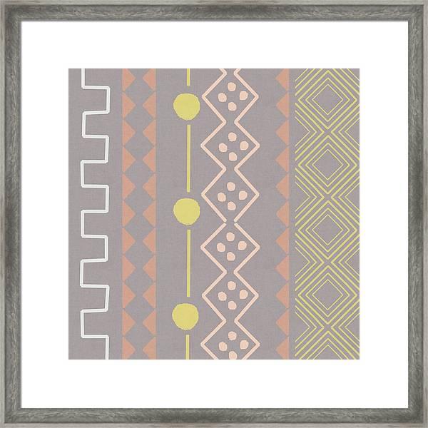 Southwest Decorative Design 7- Art By Linda Woods Framed Print