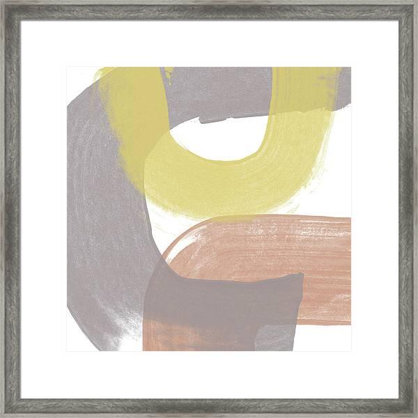 Southwest Modern Brushstrokes 2- Abstract Art By Linda Woods Framed Print