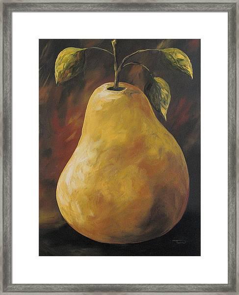 Southwest Pear Framed Print