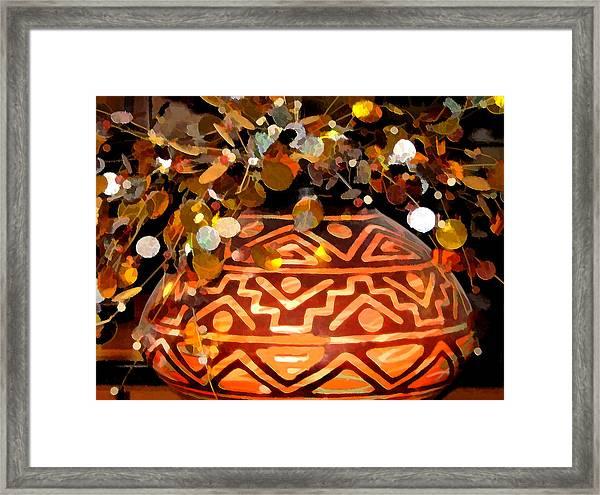 Southwest Vase Art Framed Print