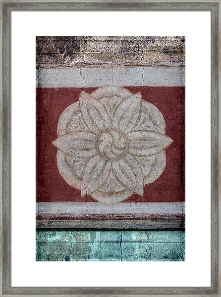 Southwestern Floral Medallion Framed Print