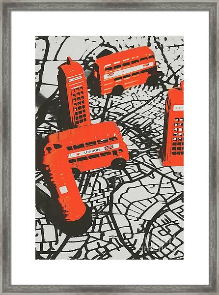 Souveniring Capital England  Framed Print