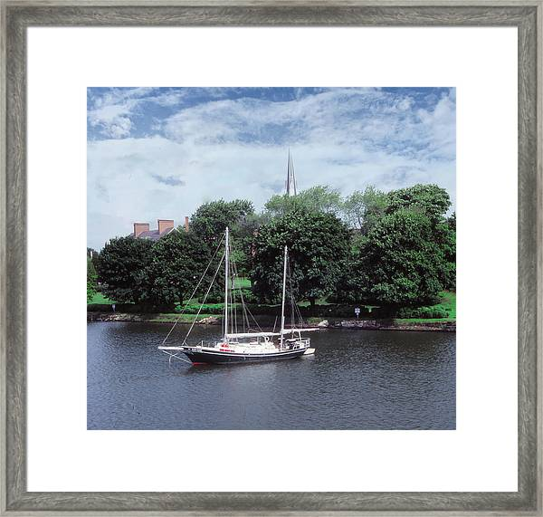 Framed Print featuring the photograph Spa Creek Morning by Samuel M Purvis III