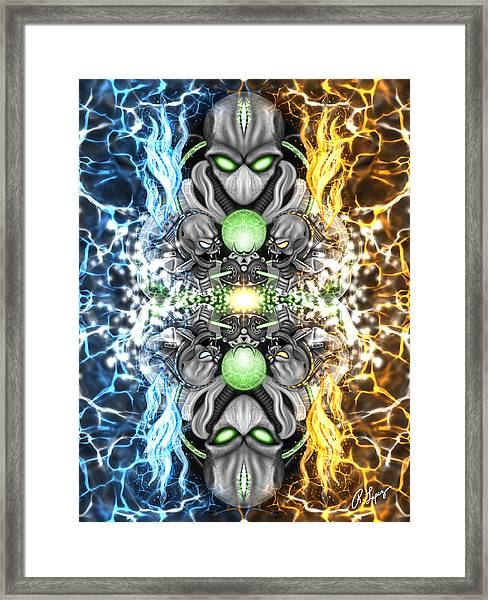 Space Alien Time Machine Fantasy Art Framed Print