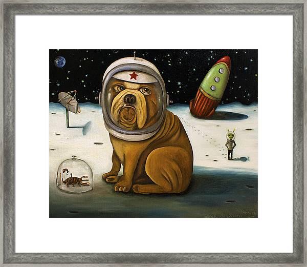 Space Crash Framed Print