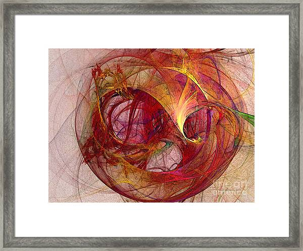 Space Demand Abstract Art Framed Print