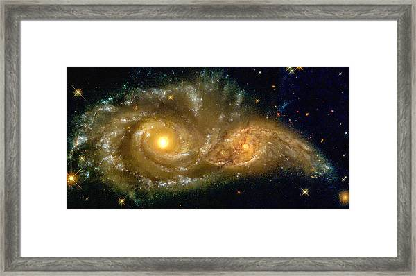 Space Image Spiral Galaxy Encounter Framed Print