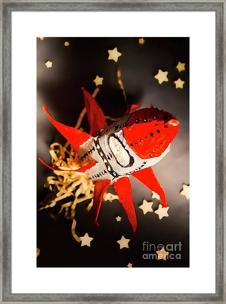 Space Launch To Seek And Discover Framed Print