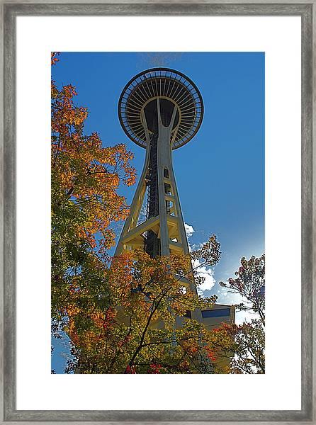 Space Needle Autumn Framed Print