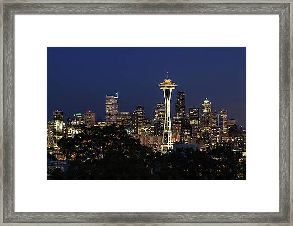 Space Needle Framed Print