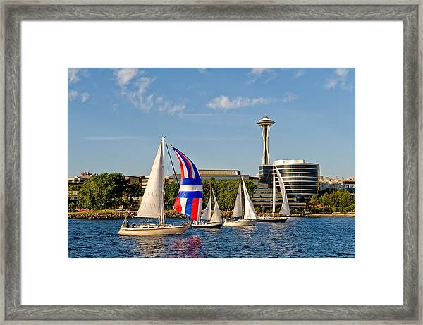 Space Needle Seattle Framed Print by Tom Dowd