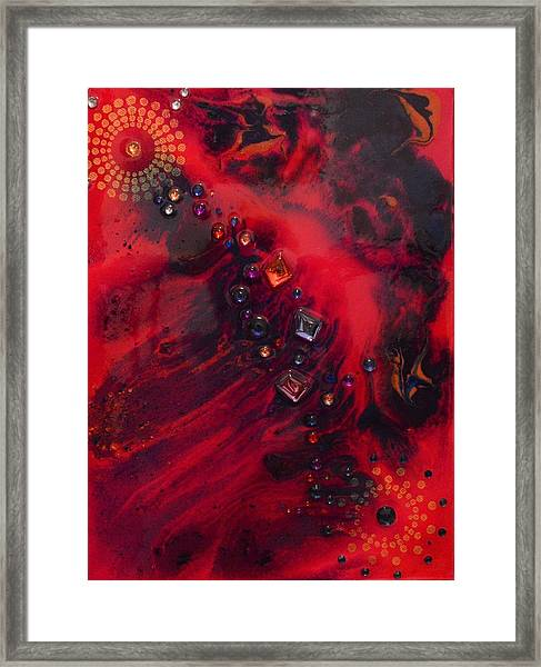 Space Poppies Framed Print