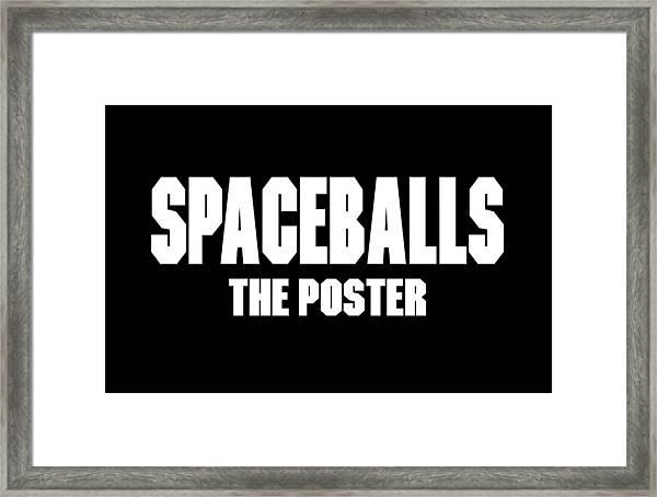 Spaceballs Branded Products Framed Print