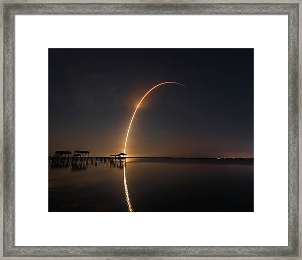 Spacex Falcon 9 Framed Print