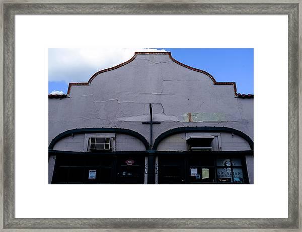Spanish Architecture Photo In Saint Augustine Florida Framed Print