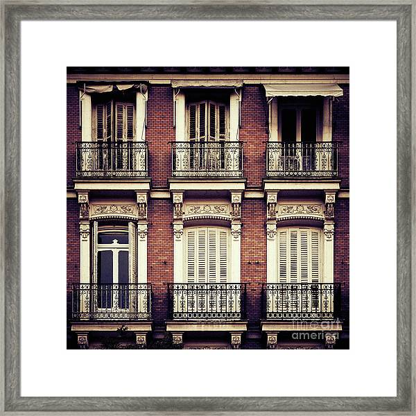 Spanish Balconies Framed Print