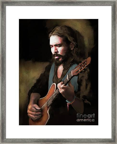 Spanish Guitar - El Javi Framed Print