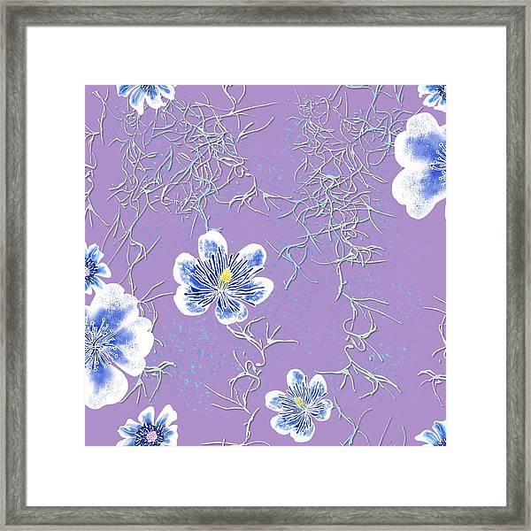 Lavender Spanish Moss Tile Framed Print