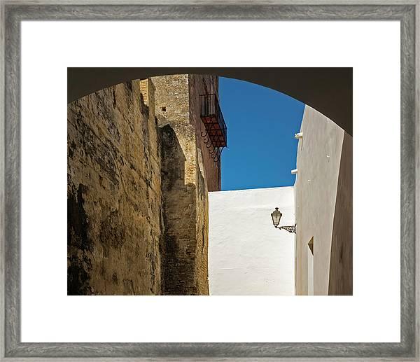 Spanish Street Framed Print