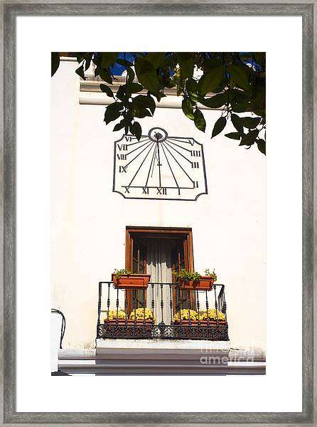 Spanish Sun Time Framed Print