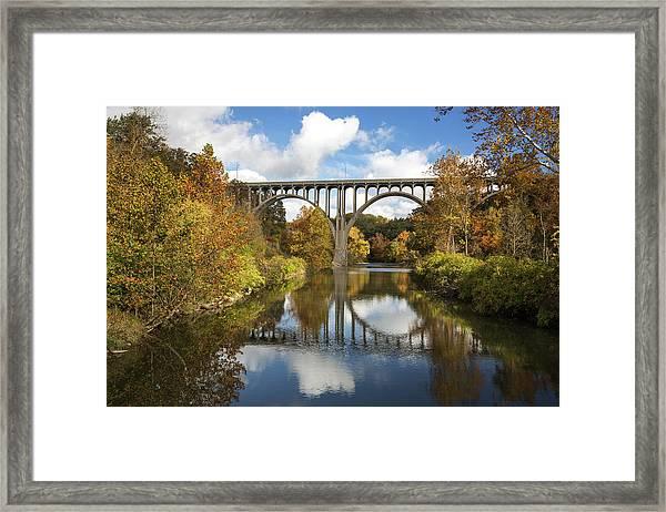 Spanning The Cuyahoga River Framed Print