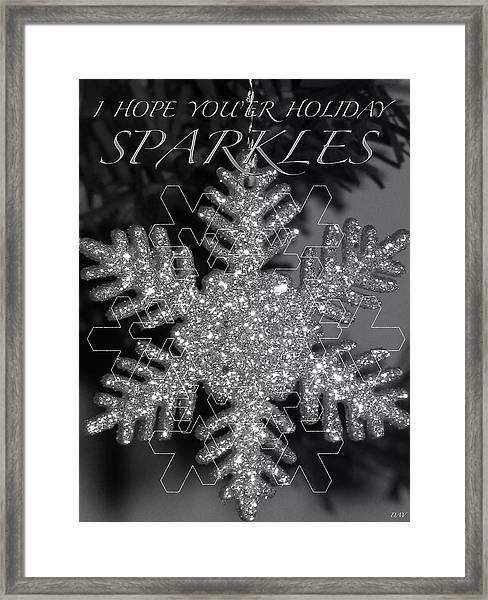 Sparkle Holiday Card Framed Print by Debra     Vatalaro