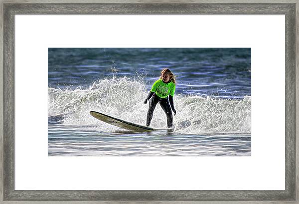 Sparkle Surf Framed Print