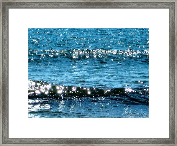 Sparkle Waves  Framed Print