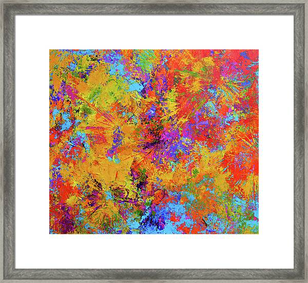 Sparks Of Consciousness Modern Abstract Painting Framed Print