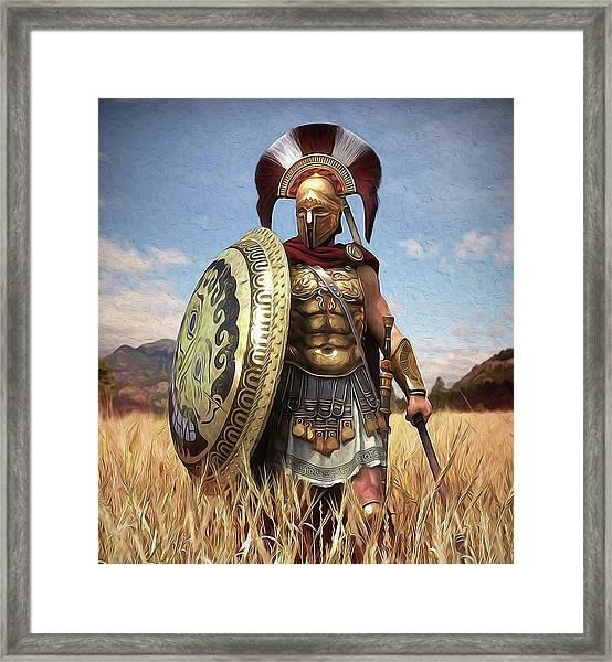 Spartan Hoplite - 02 Framed Print