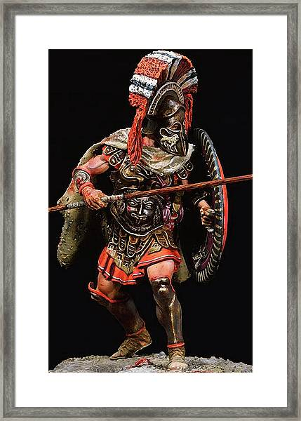 Spartan Hoplite - 05 Framed Print