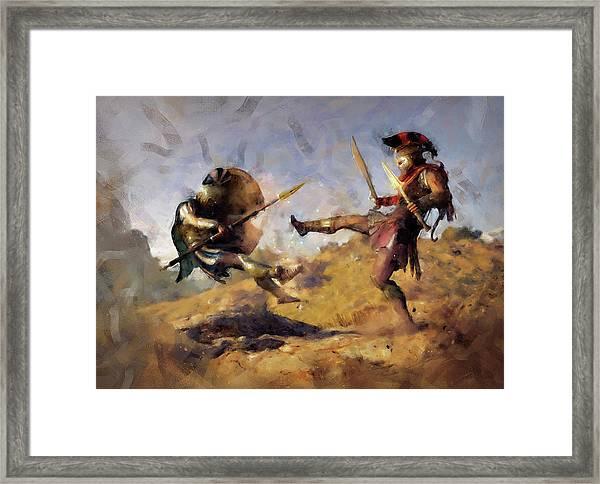 Spartan Hoplite - 12 Framed Print