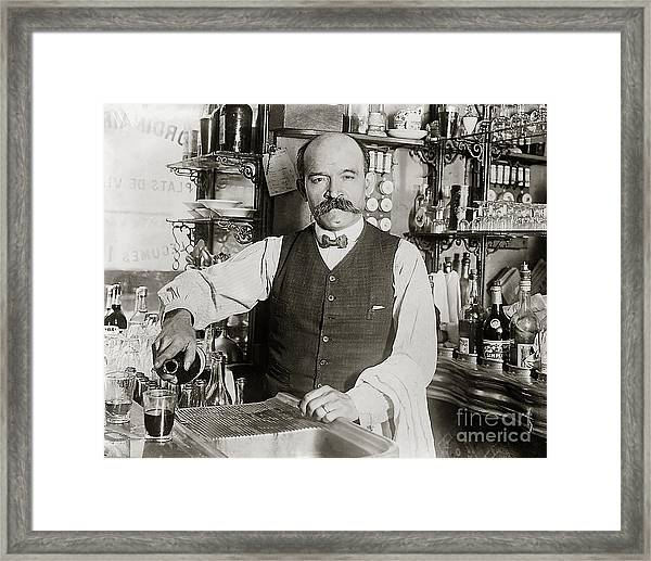 Speakeasy Bartender Framed Print